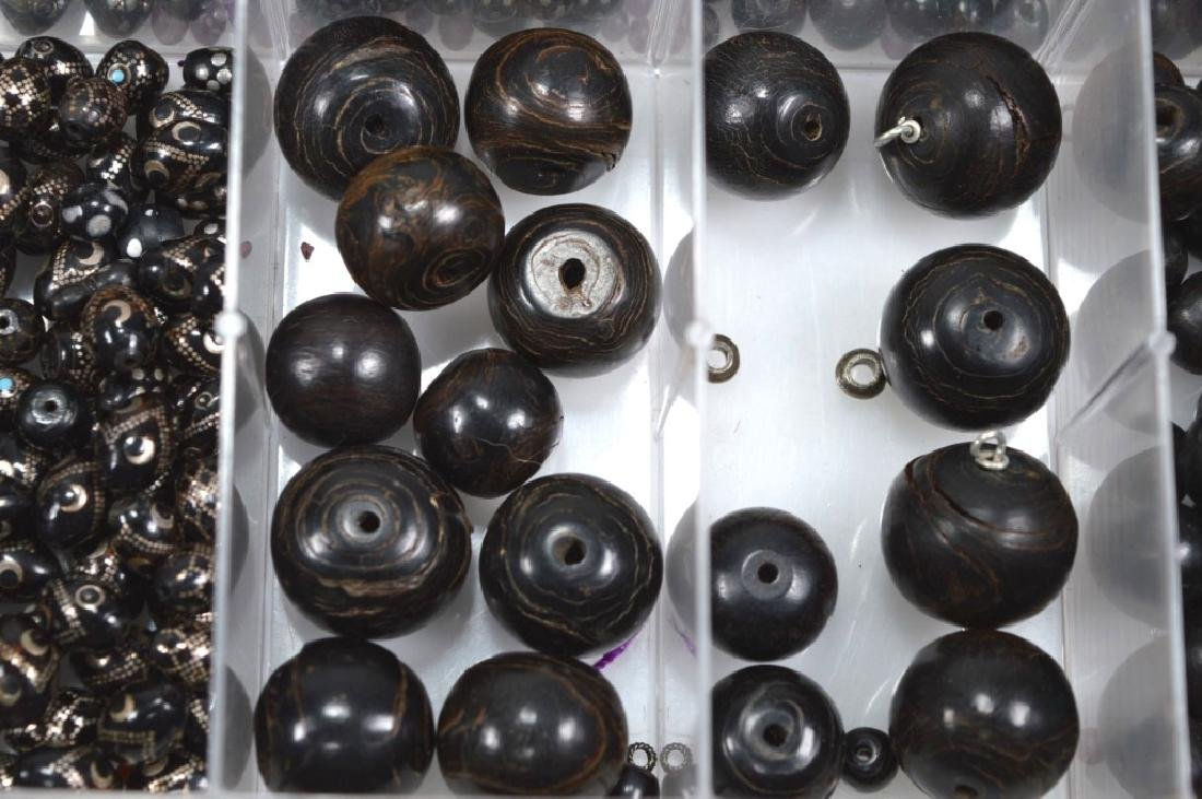 """Assorted Black Beads; so called """"Black Coral"""" - 3"""
