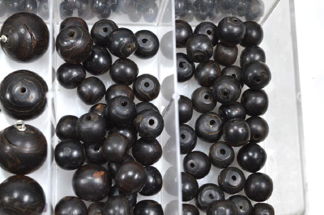 """Assorted Black Beads; so called """"Black Coral"""" - 4"""