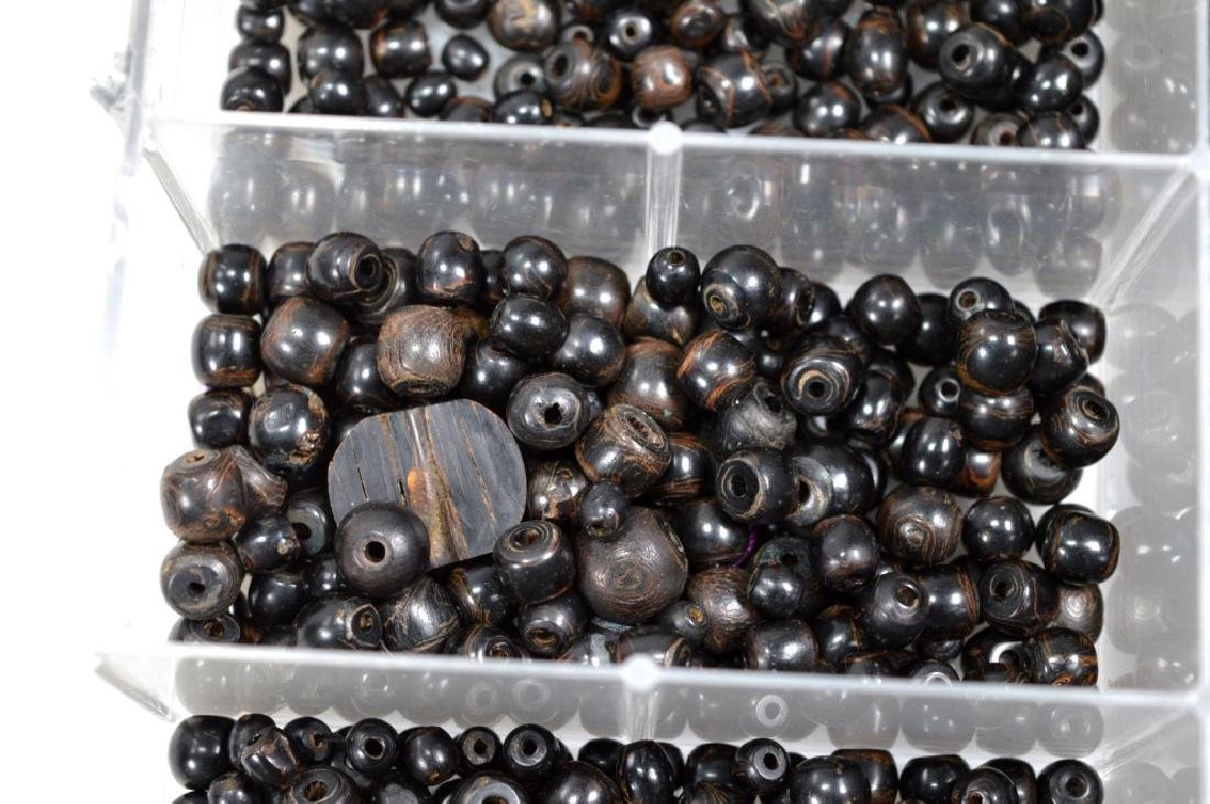"""Assorted Black Beads; so called """"Black Coral"""" - 5"""