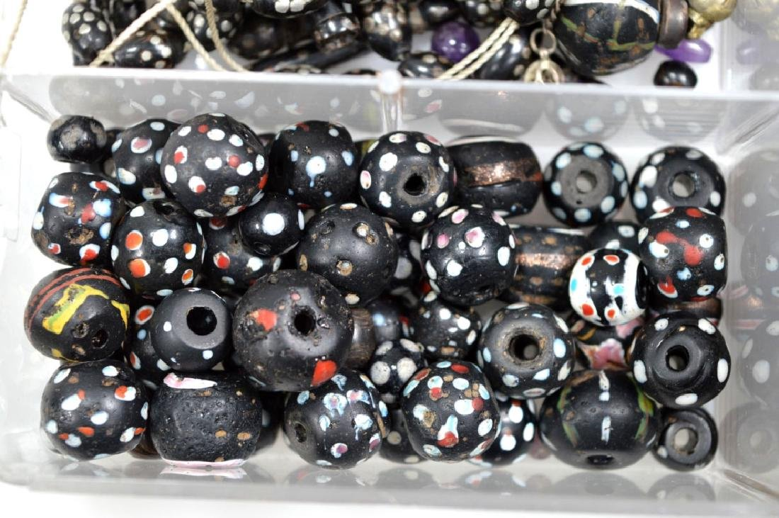 """Assorted Black Beads; so called """"Black Coral"""" - 6"""