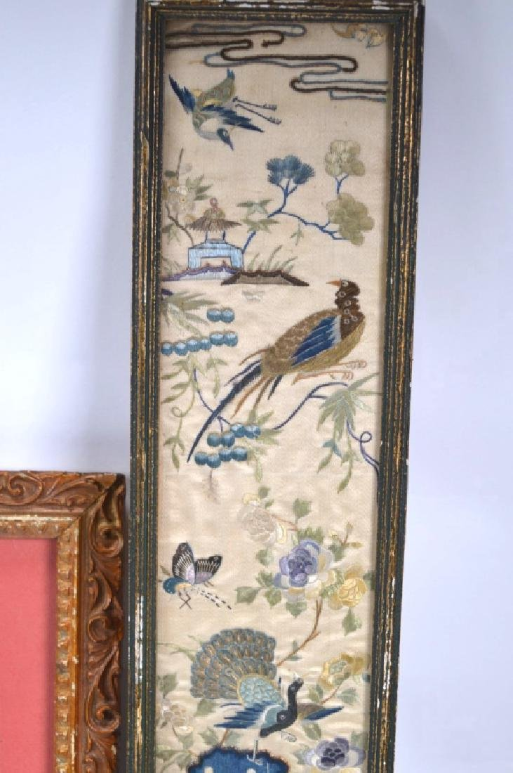 4- Chinese Embroidered Silk Sleeve Ends - 4
