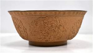 Rare 17th/18th C Chinese Yixing Light Clay Bowl