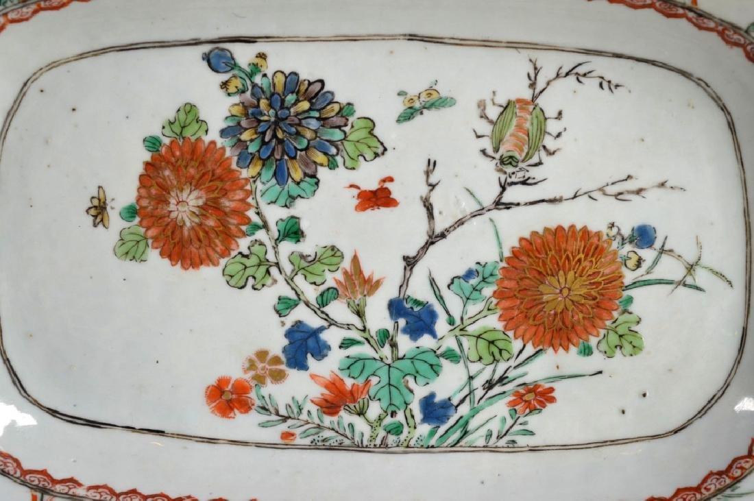 Pr Chinese Kangxi Famille Verte Porcelain Platters - 2