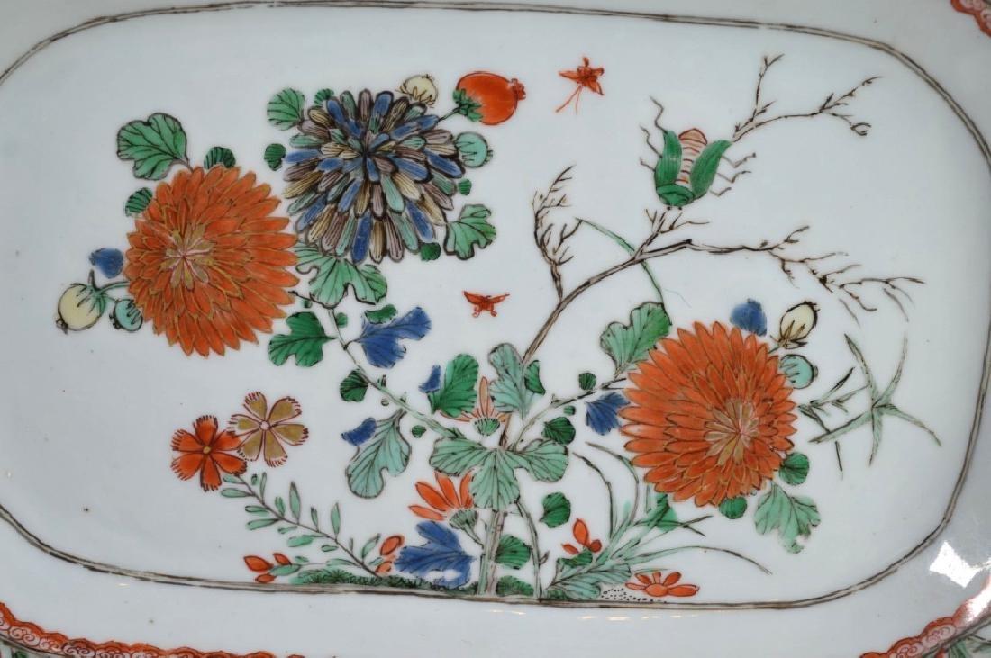 Pr Chinese Kangxi Famille Verte Porcelain Platters - 3