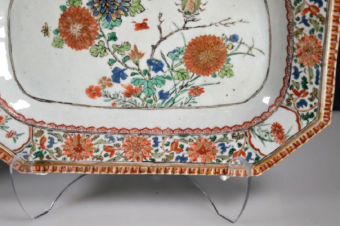 Pr Chinese Kangxi Famille Verte Porcelain Platters - 4