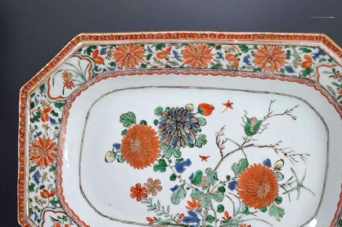Pr Chinese Kangxi Famille Verte Porcelain Platters - 5