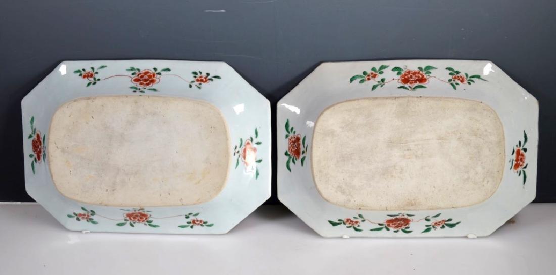 Pr Chinese Kangxi Famille Verte Porcelain Platters - 6