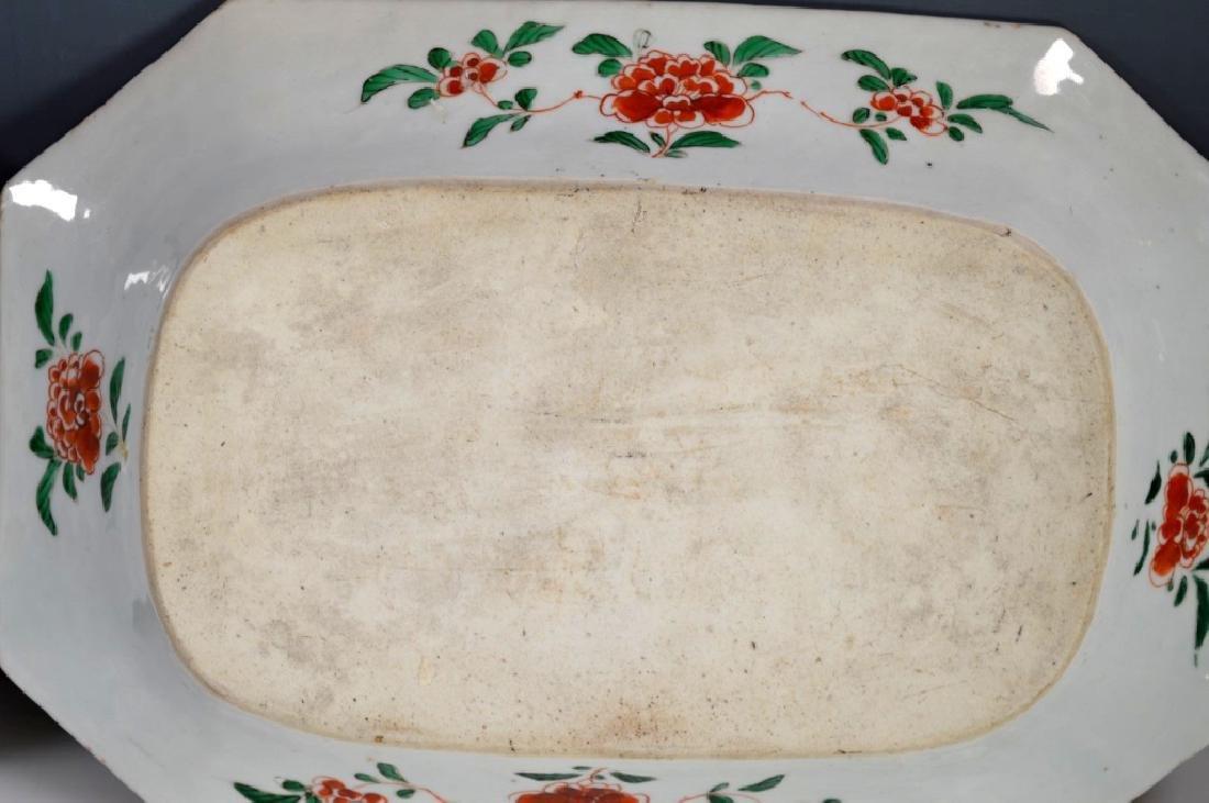 Pr Chinese Kangxi Famille Verte Porcelain Platters - 8
