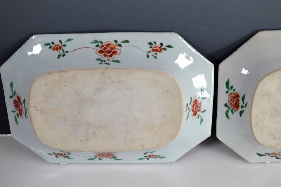 Pr Chinese Kangxi Famille Verte Porcelain Platters - 9