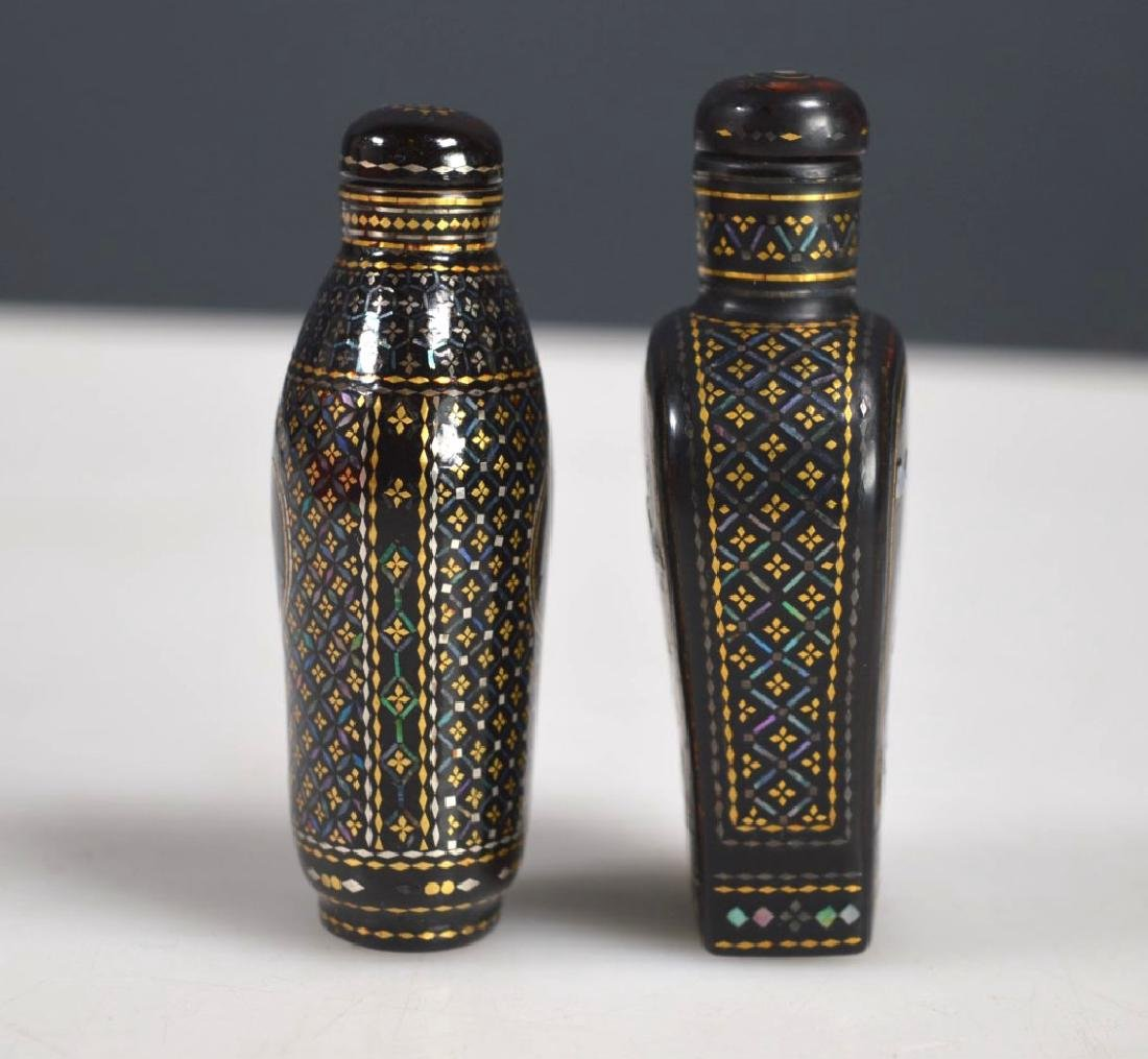 Two 18th/19th C Chinese Lac Burgaute Snuff Bottles - 3