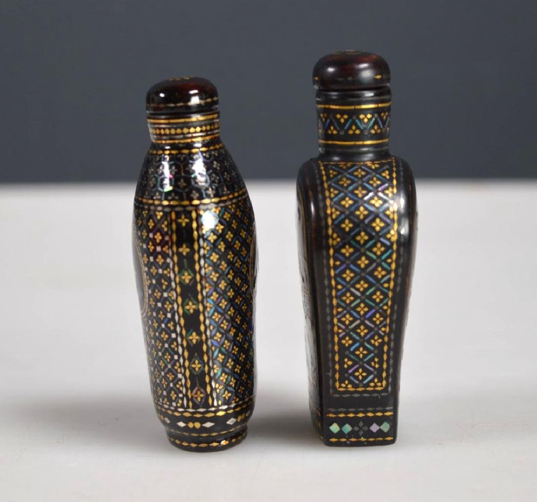 Two 18th/19th C Chinese Lac Burgaute Snuff Bottles - 4
