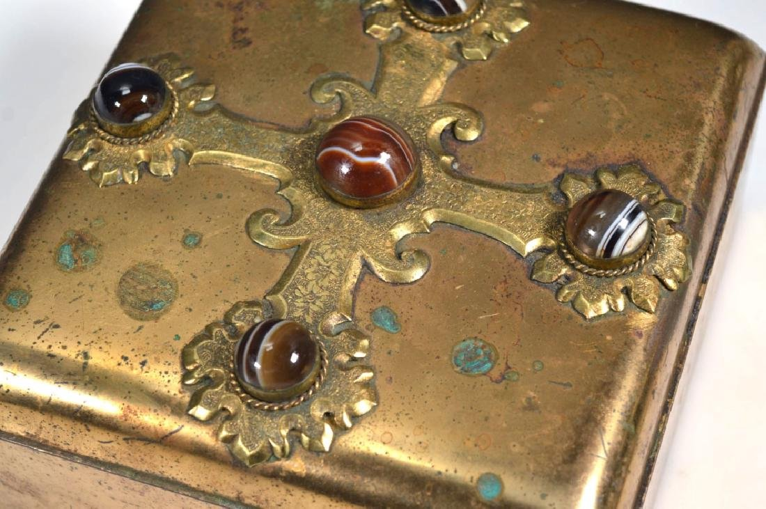 Leuchars & Sons; English Agate Bronze Jewel Box - 3