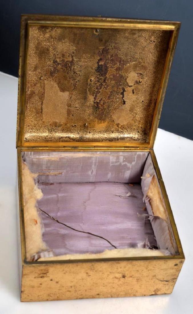 Leuchars & Sons; English Agate Bronze Jewel Box - 5