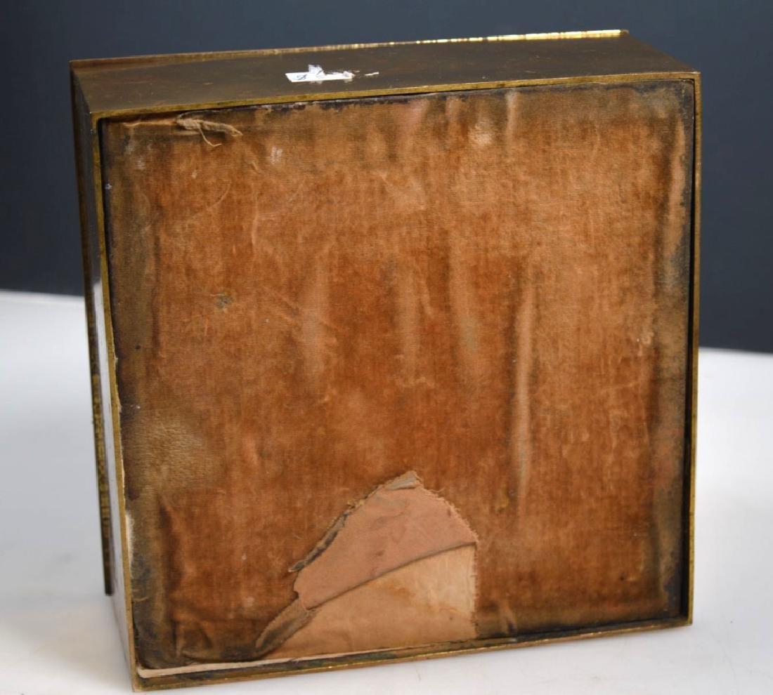 Leuchars & Sons; English Agate Bronze Jewel Box - 6