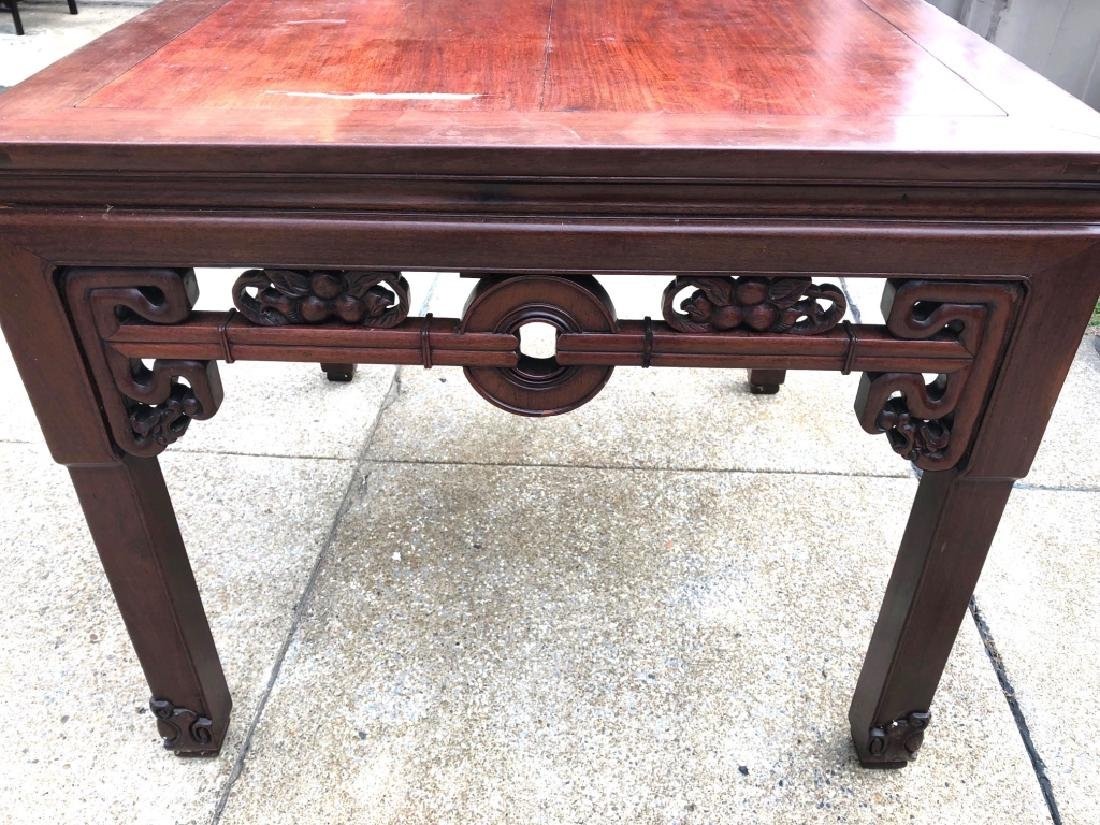 Chinese Hardwood Square Center Table - 2
