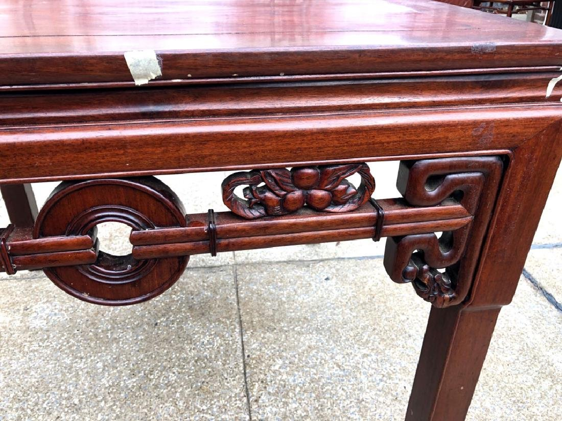 Chinese Hardwood Square Center Table - 3