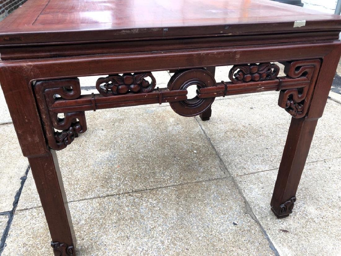 Chinese Hardwood Square Center Table - 4