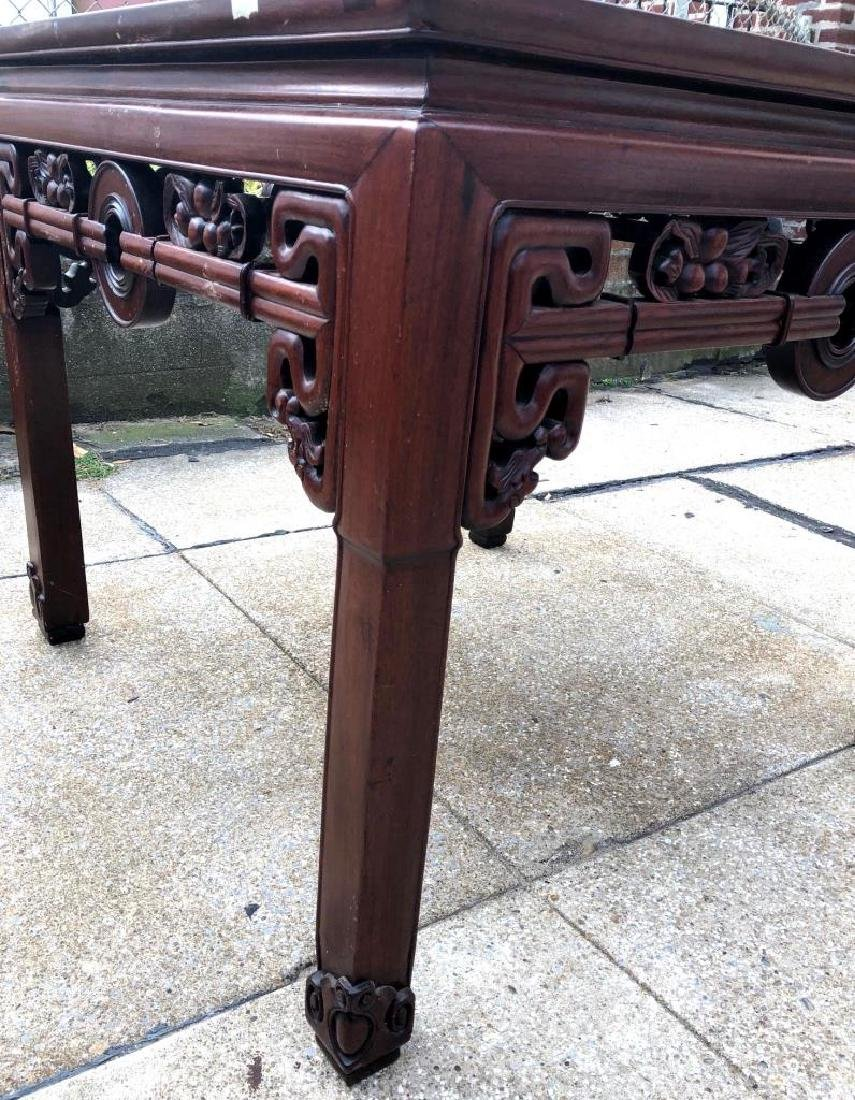 Chinese Hardwood Square Center Table - 6
