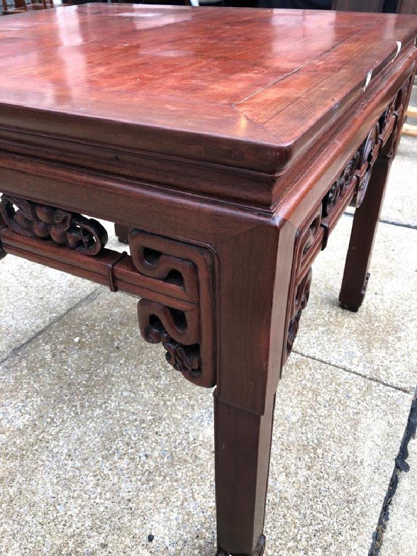 Chinese Hardwood Square Center Table - 7