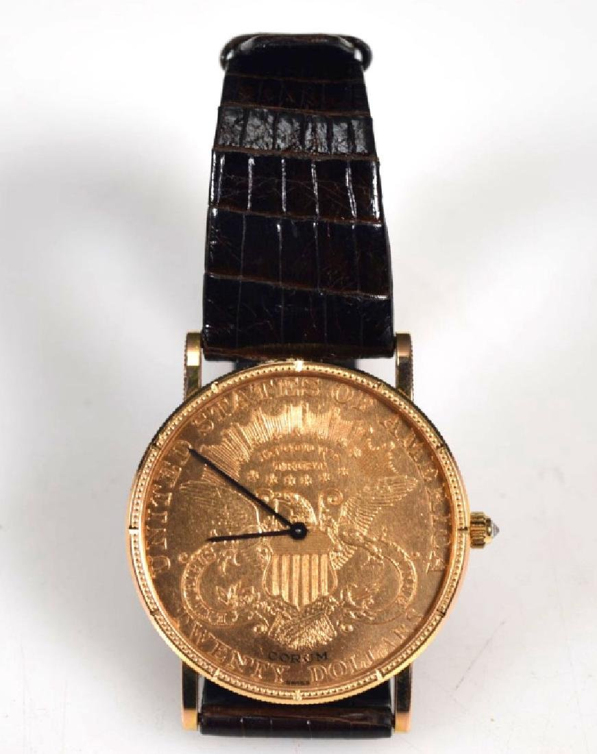 Corum; 1906 USA $20 Gold Piece Wrist Watch