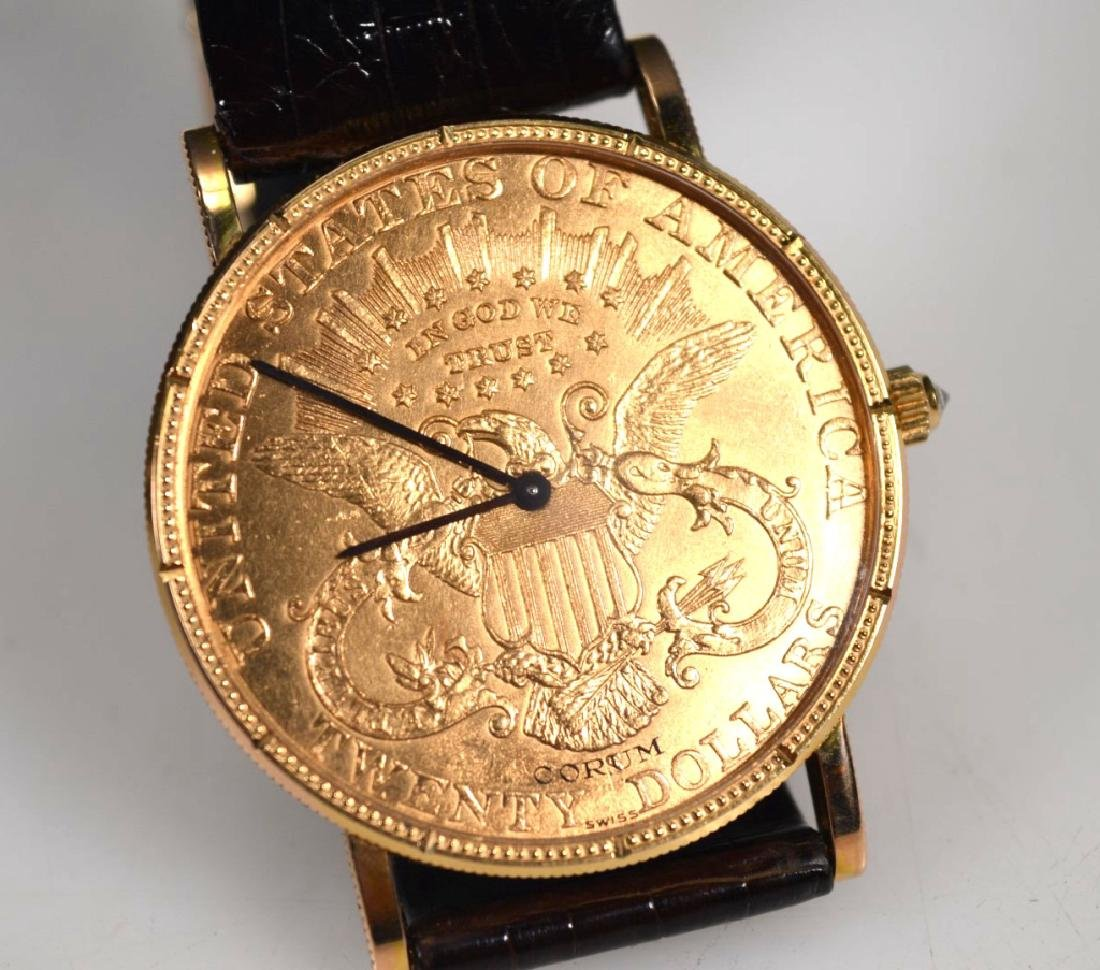 Corum; 1906 USA $20 Gold Piece Wrist Watch - 2