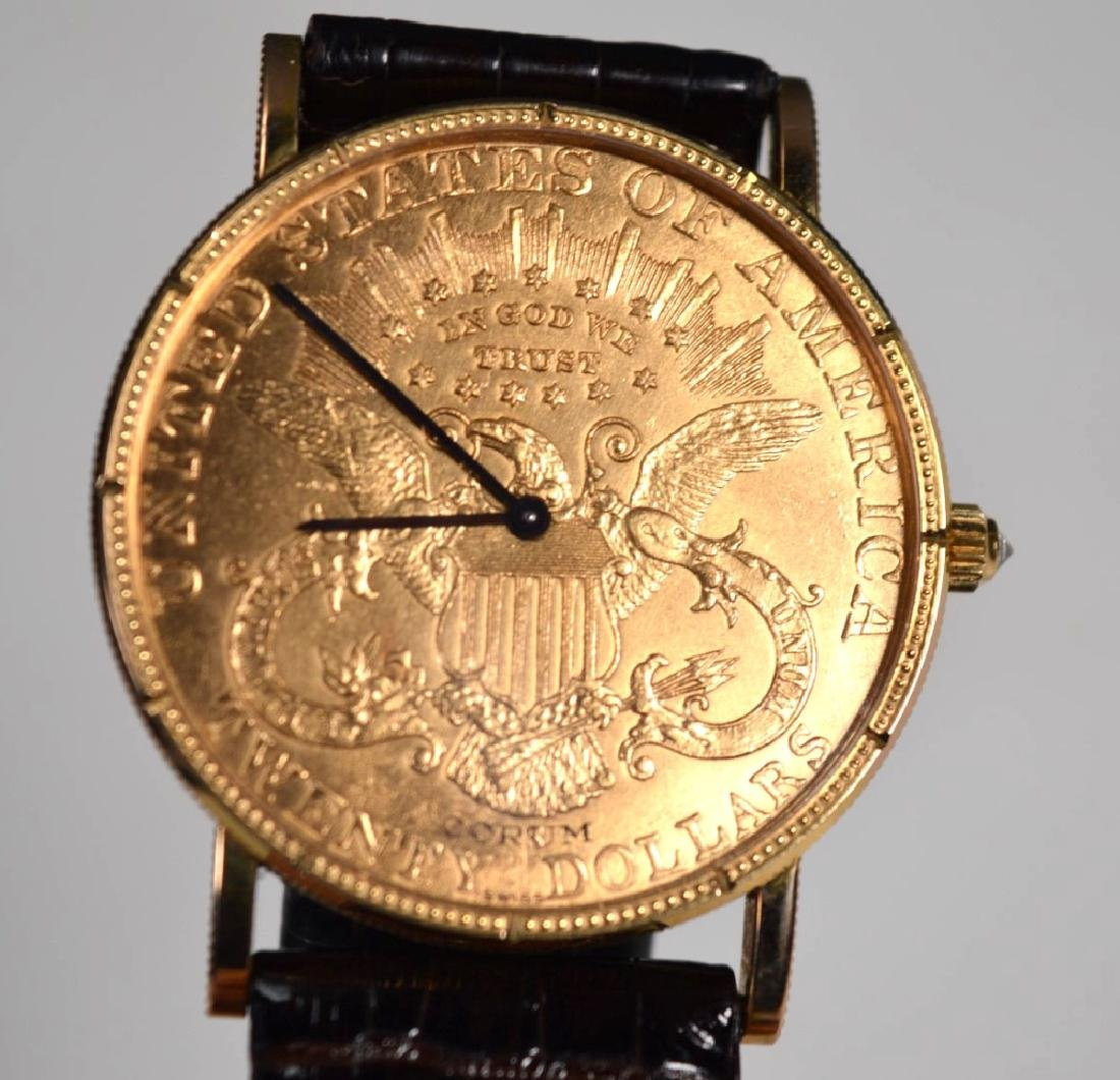 Corum; 1906 USA $20 Gold Piece Wrist Watch - 3