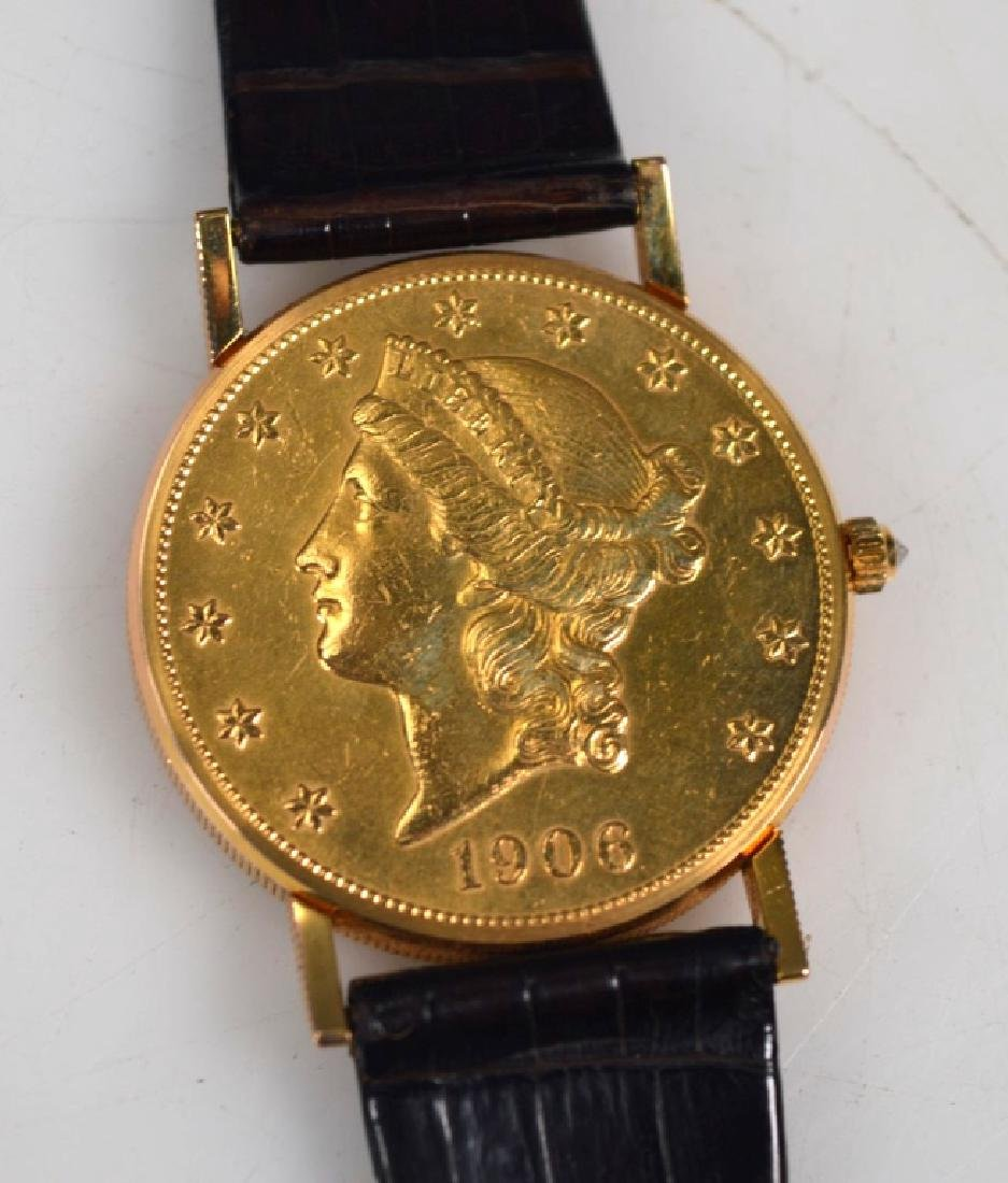 Corum; 1906 USA $20 Gold Piece Wrist Watch - 6