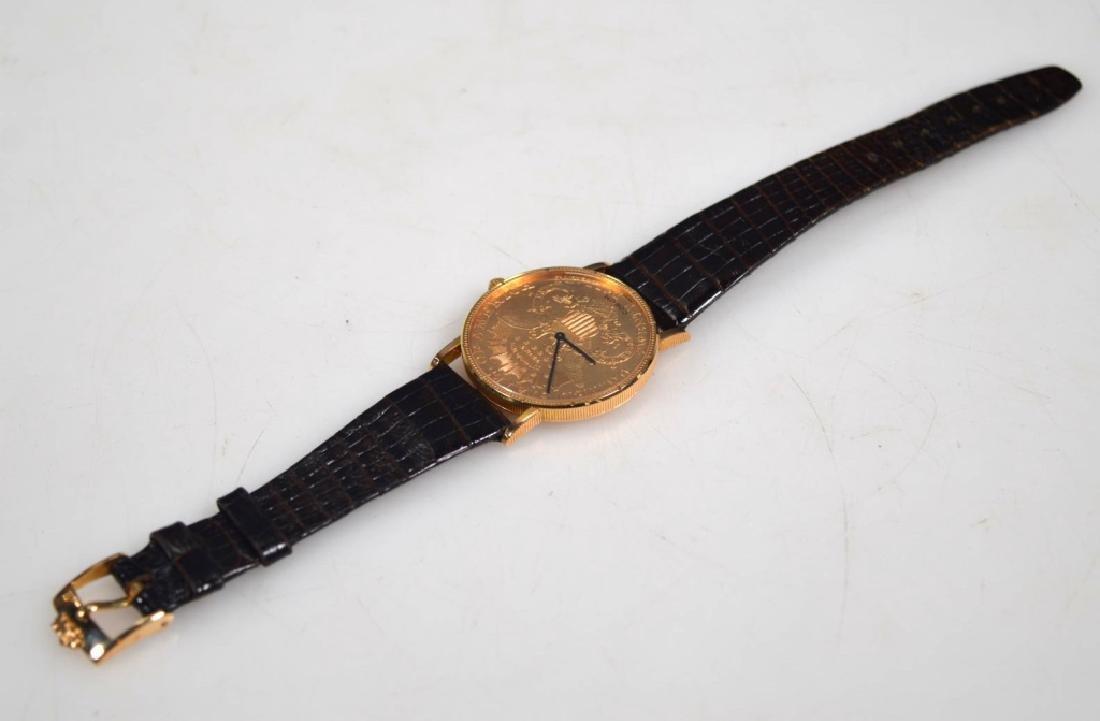 Corum; 1906 USA $20 Gold Piece Wrist Watch - 8
