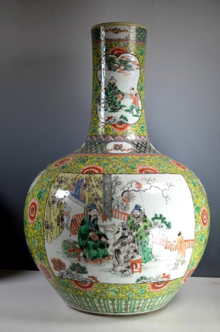 Ex Lg Qing Chinese Porcelain Famille Verte Vase