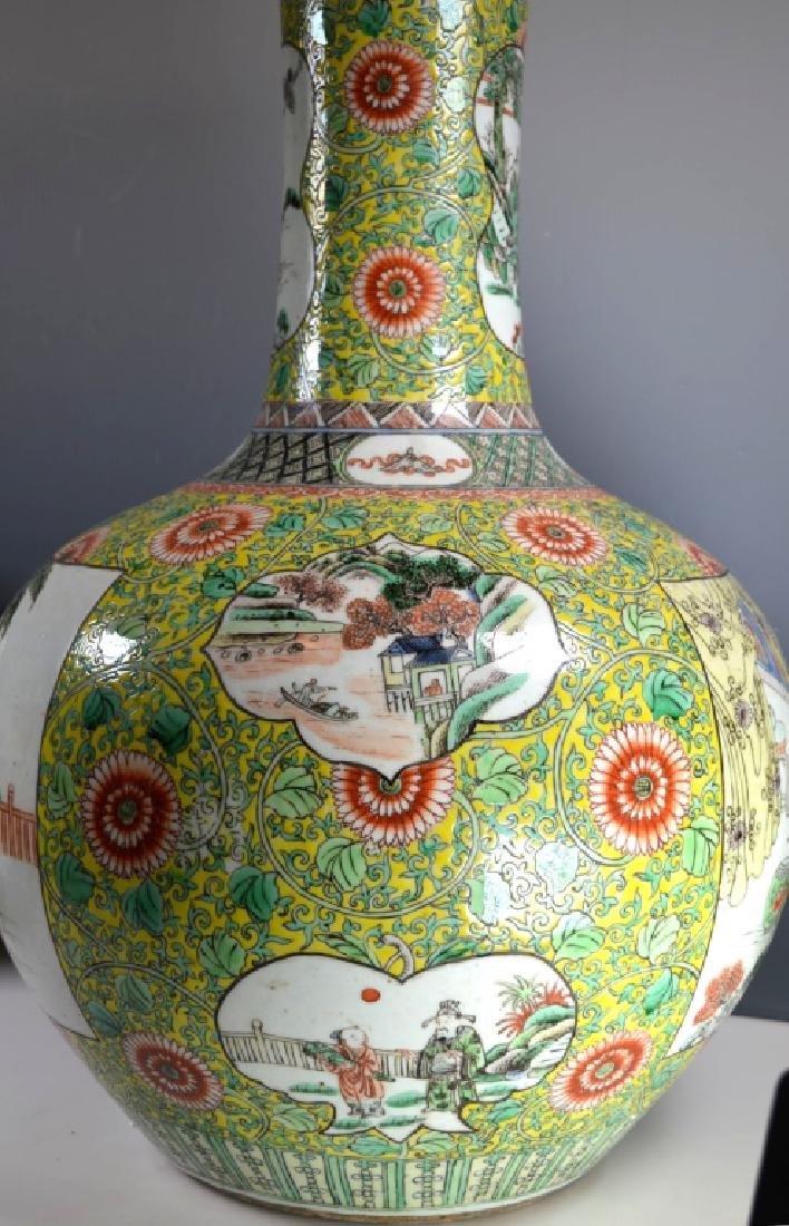 Ex Lg Qing Chinese Porcelain Famille Verte Vase - 5