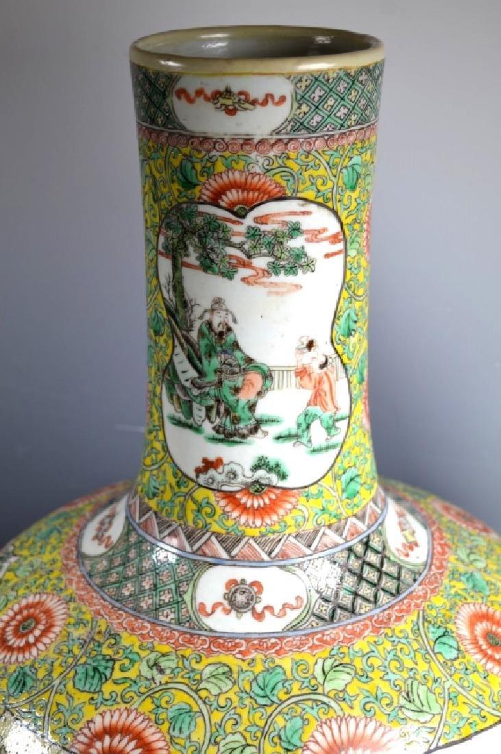 Ex Lg Qing Chinese Porcelain Famille Verte Vase - 6