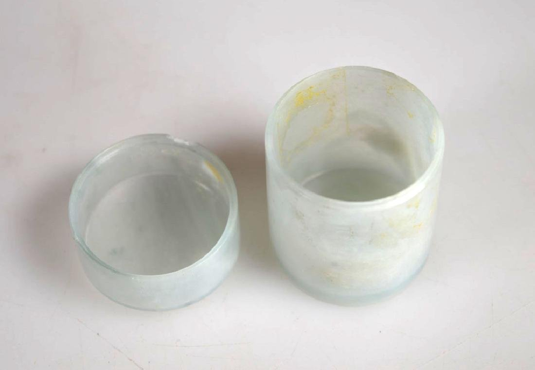 Chinese Very Thin Translucent Jadeite Tube Box - 5