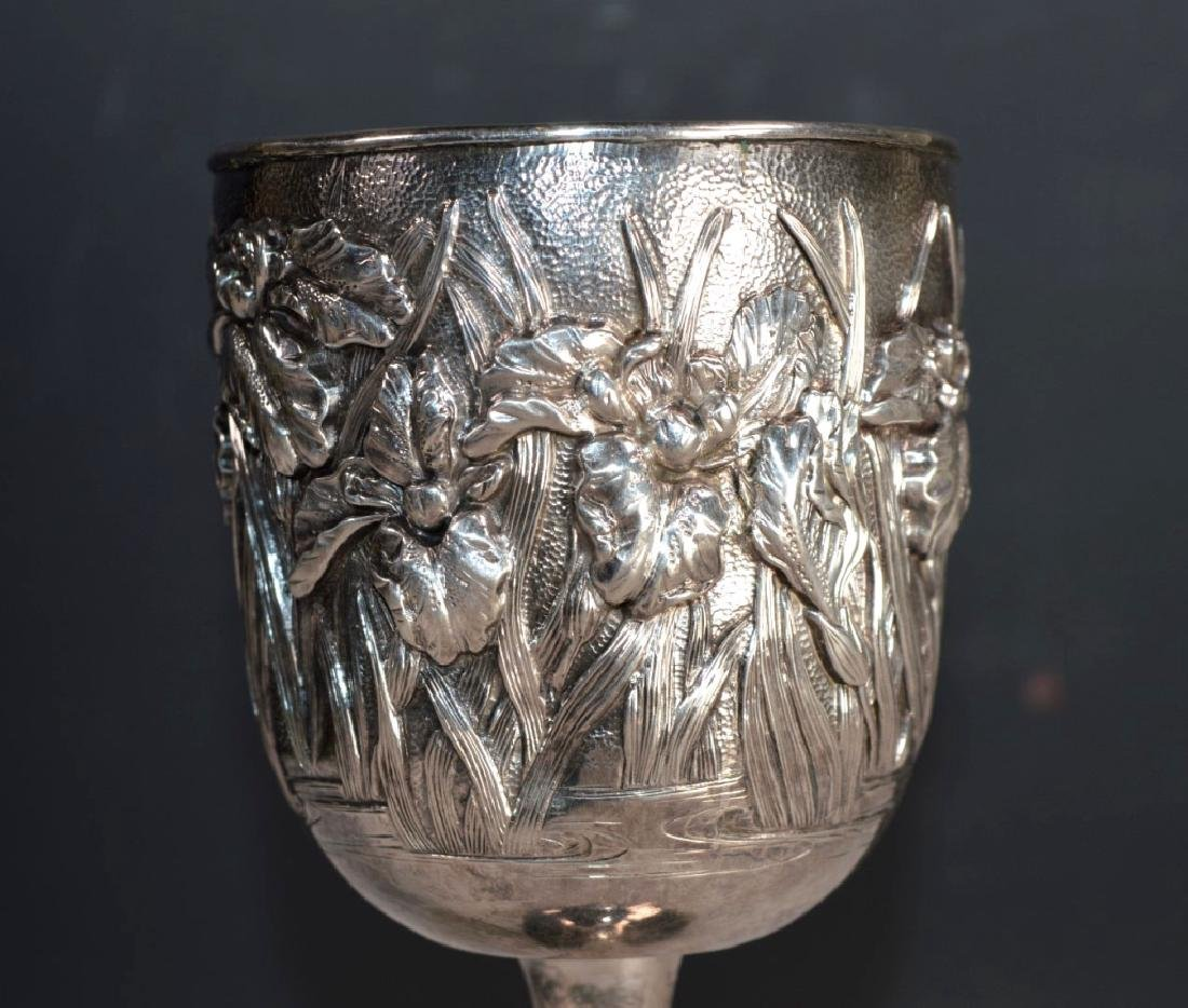 Japanese Silver Goblet; weight 187G - 3