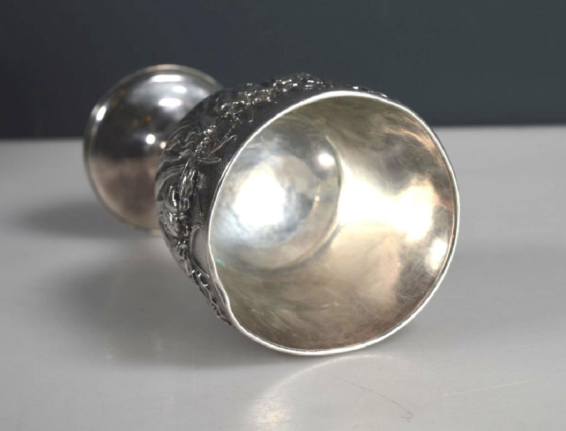 Japanese Silver Goblet; weight 187G - 7