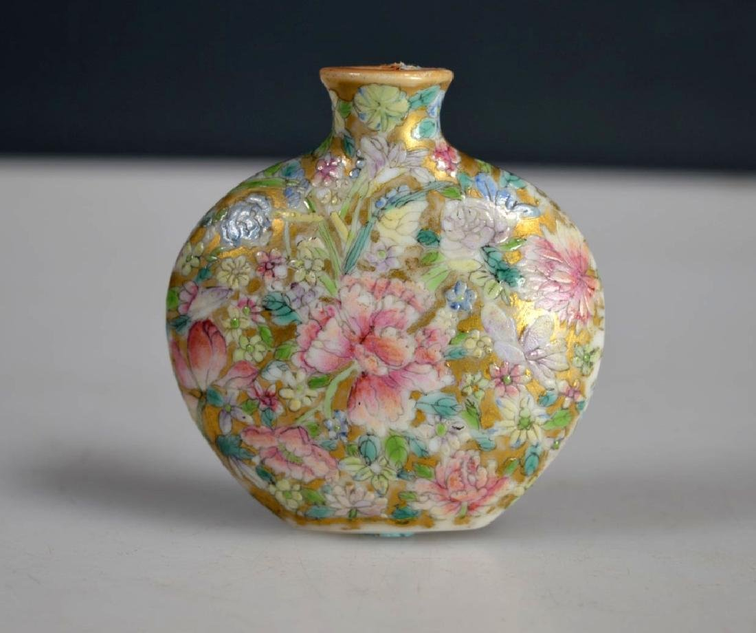 18 C Chinese Mille Fleur Porcelain Snuff Qianlong - 2