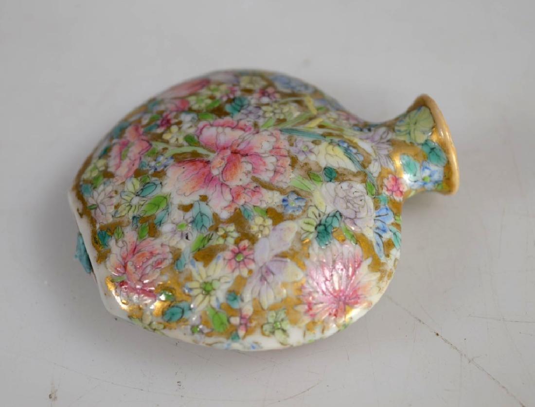 18 C Chinese Mille Fleur Porcelain Snuff Qianlong - 3