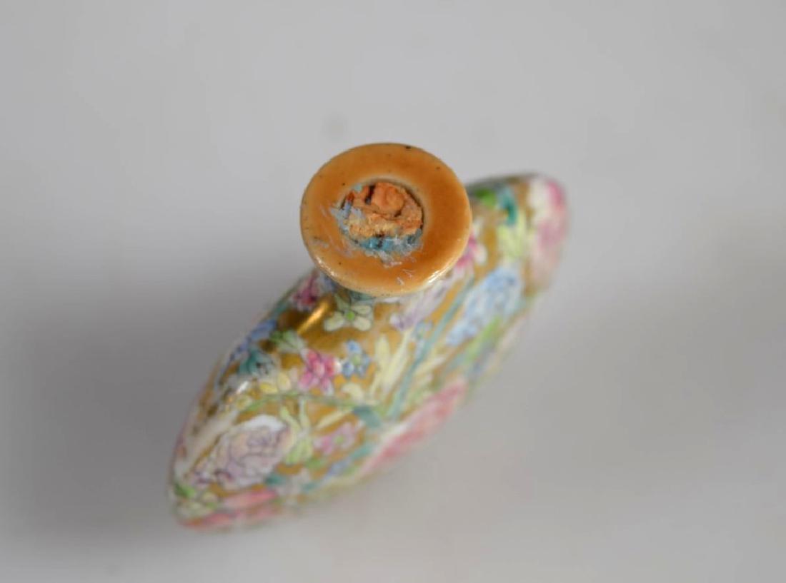 18 C Chinese Mille Fleur Porcelain Snuff Qianlong - 5