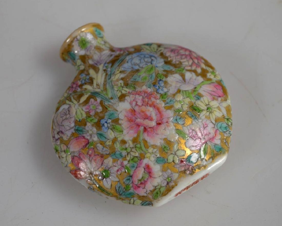 18 C Chinese Mille Fleur Porcelain Snuff Qianlong - 6