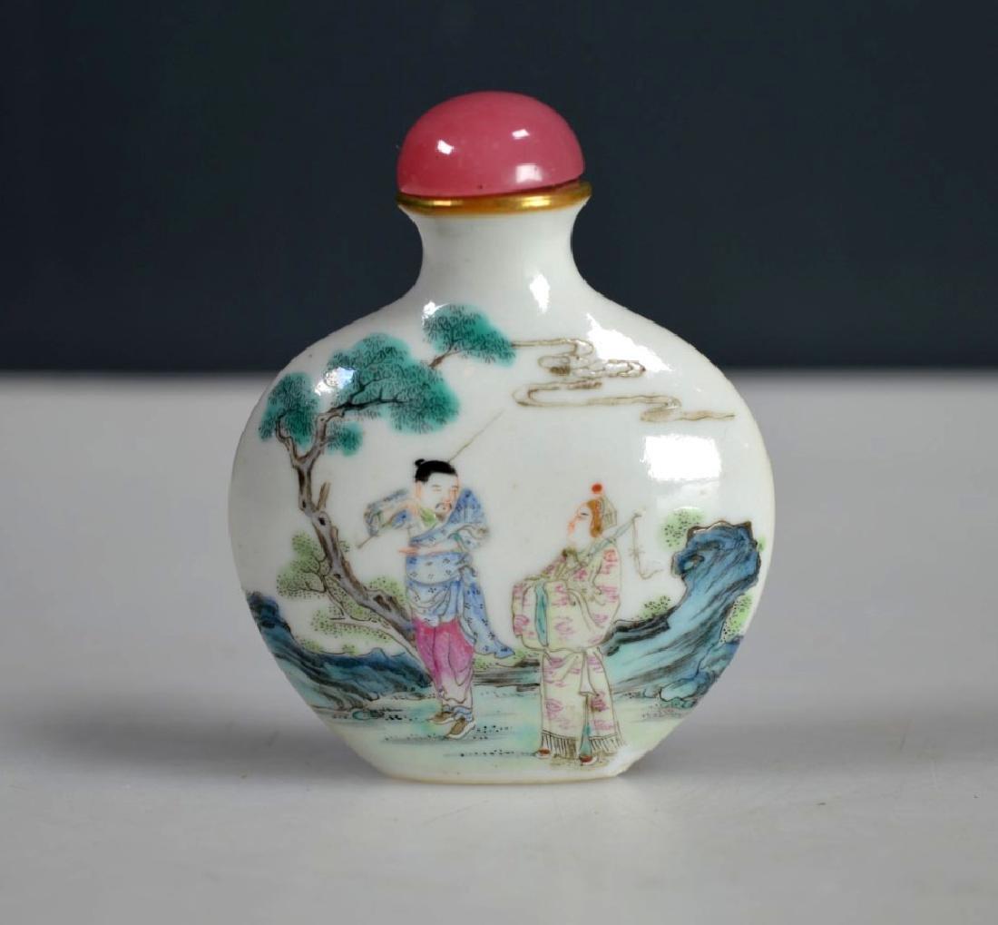 18th C Chinese Enameled Porcelain Snuff Qianlong