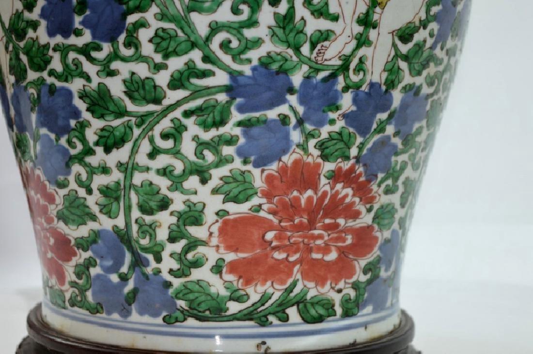 Lg Chinese Transitional Wucai Porcelain Jar - 4