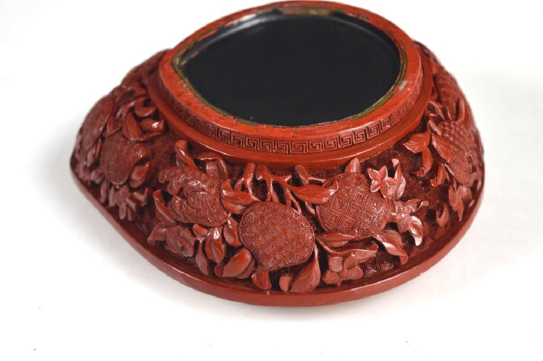 Chinese Carved and Cast Red Composition Box - 7