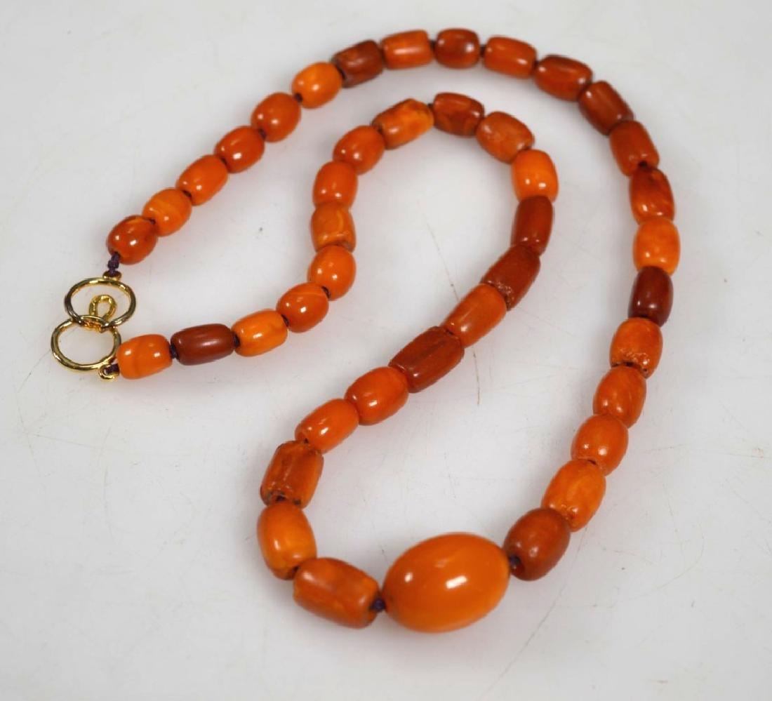 Antique Butterscotch Amber Beads; 28 grams