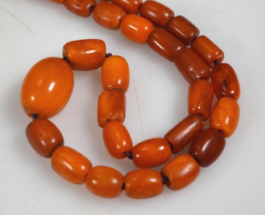 Antique Butterscotch Amber Beads; 28 grams - 2