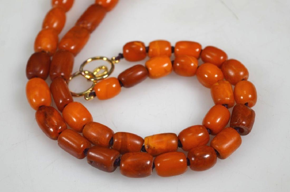 Antique Butterscotch Amber Beads; 28 grams - 3