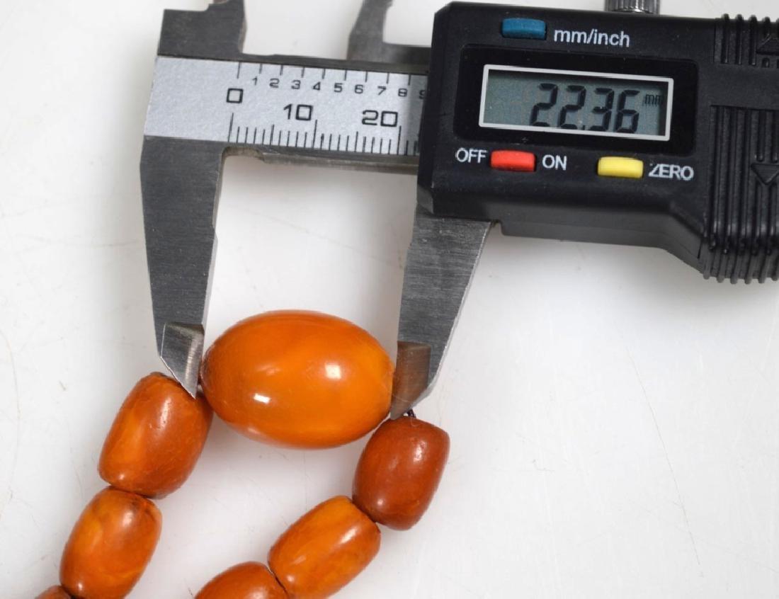 Antique Butterscotch Amber Beads; 28 grams - 5