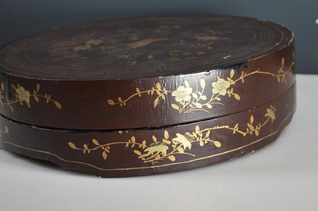 Qing Chinese Goldfish Sweetmeat Porcelain Set; Box - 10