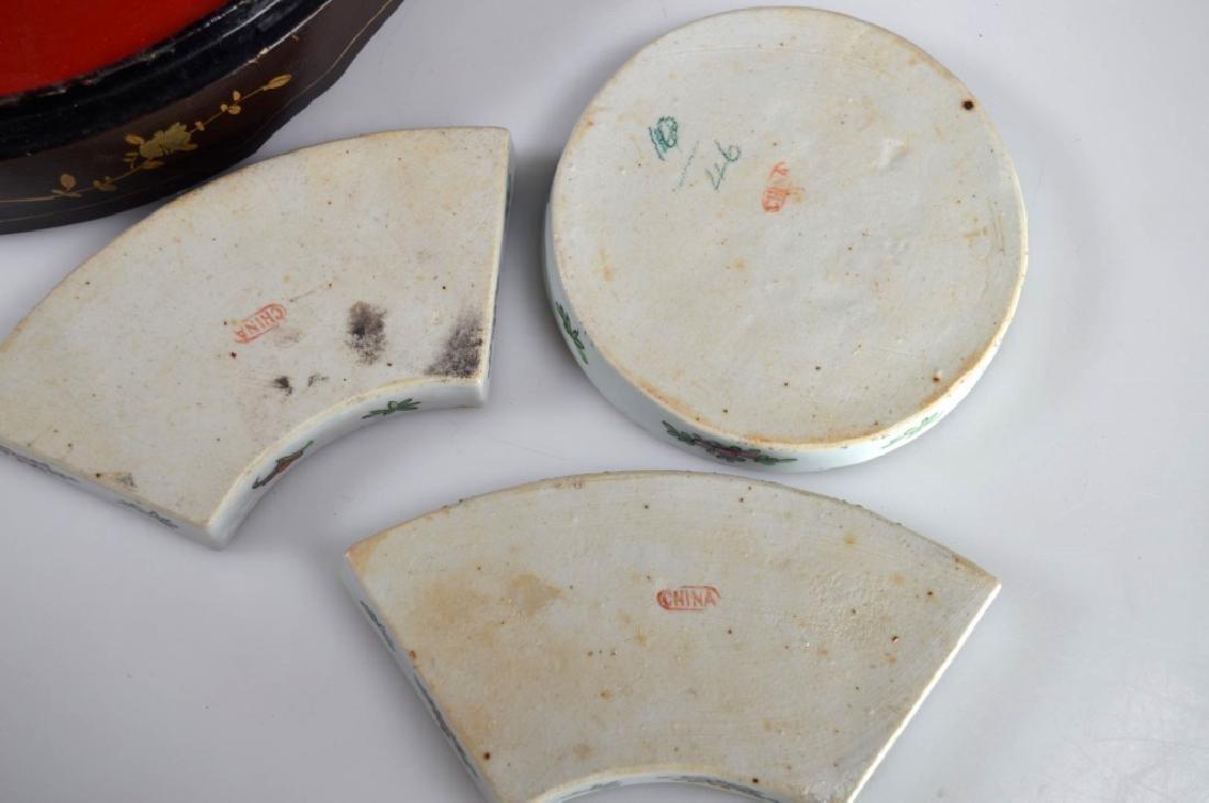 Qing Chinese Goldfish Sweetmeat Porcelain Set; Box - 7
