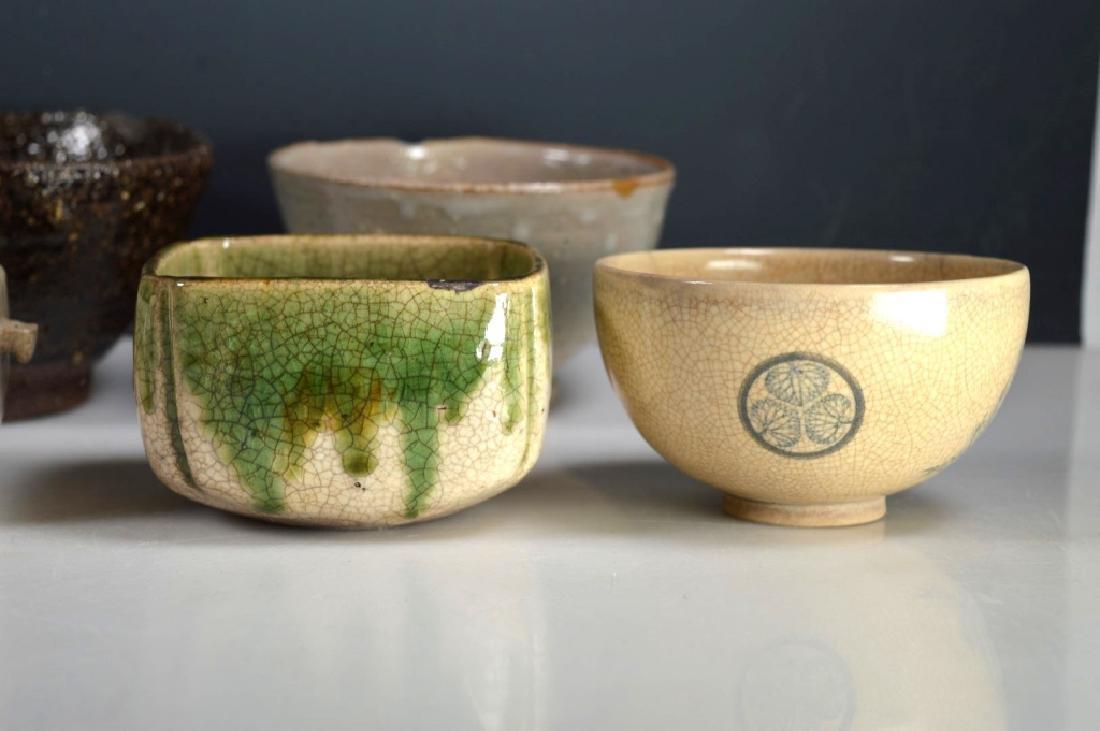 8 Antique Japanese Tea Ceremony Tea Bowls - 2