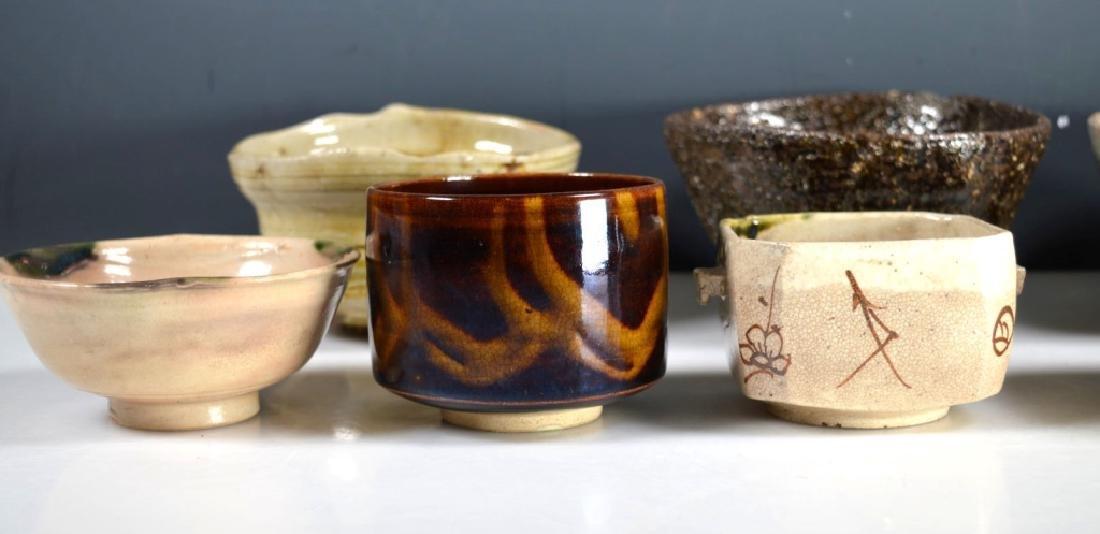 8 Antique Japanese Tea Ceremony Tea Bowls - 3