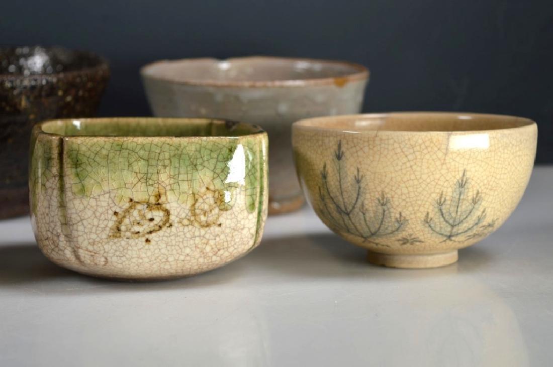 8 Antique Japanese Tea Ceremony Tea Bowls - 4